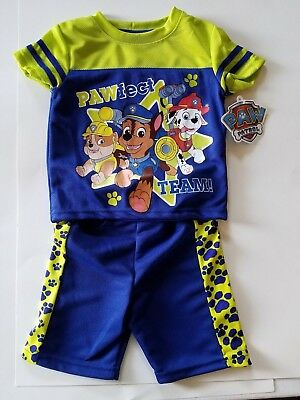Paw Patrol Boy Infant Toddler 2 Piece Short Outfit  Size 2T  NWT