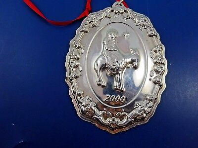 Sterling Silver Christmas Ornament Reed & Barton Francis I Mary on Donkey 2000
