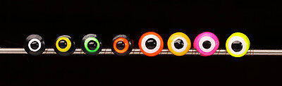 Double Pupil Lead Eyes SMALL Hareline 10 Stück 10 Farben DUMBBELL SMALL Ø 4 mm