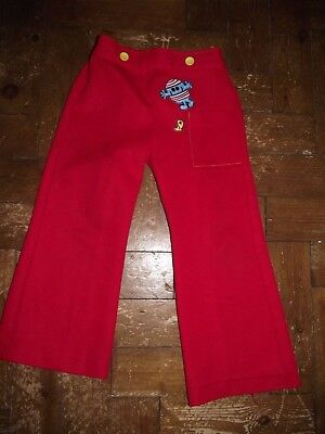 Vintage 1970's Mr Men Mr Bump trousers age 2-3 years