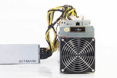 NEW ANTMINER L3+ 504 MH/S LITECOIN LTC SCRYPT ASIC MINER L3 w/ APW3 POWER SUPPLY