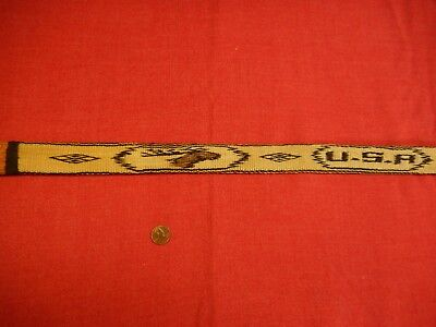 OLD hitched horse hair two sided prison made belt ELK & USA designs