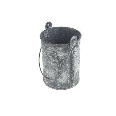 Metal Gray Galvanized Zinc Pail with Long Handle, 4-1/2-inch