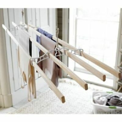 Pulley Creel Rope Hanging Ceiling Clothes Drying Rack Cast Iron Laundry 1.2M