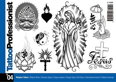 Inspire Uk  Tb34 Religious Professionist 04 Tattoos Flash Designs Uk Stockist