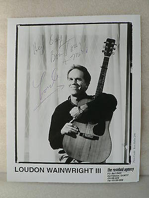 LOUDON WAINWRIGHT III Singer Actor ORIGINAL AUTOGRAPH SIGNED PHOTO 8 X 10