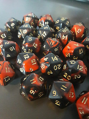 D20 Dice - Red Oblivion - Poly