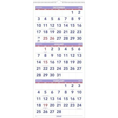 At-A-Glance 3 Months Reference Wall Calendar - AAGPM1128