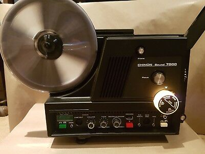 Chinon Sound 7500 Super 8 8mm Sound Cine Projector Immaculate Condition