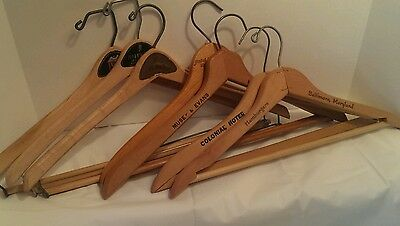 Wooden Suit Hangers Wishbone, Batts, Yugoslavia, Good Form Hotels, &University