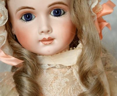 """Vintage Repro A.14 T Thuillier 25"""" Bisque Head Doll Compo Body HH Wig Whately 83"""