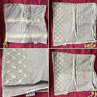 Authentic Palestinian Original Pearl Grey  Hirbawi Keffieh Kufiyah Shemagh Scarf