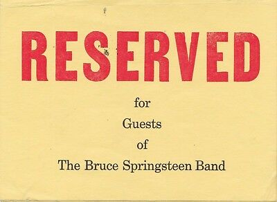 Bruce Springsteen 1972 Double Side Concert Handbill Table Tent Very Rare Guests