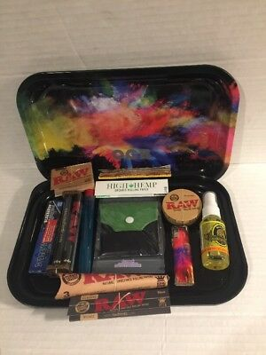 SMOCB 7x11 Rolling Tray High Hemp Organic Rolling Papers/Juicy Wraps/ 15 ITEMS!