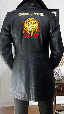 Cirque du Soleil Staff-Only Leather Jacket, XS, Very Rare & Collectible