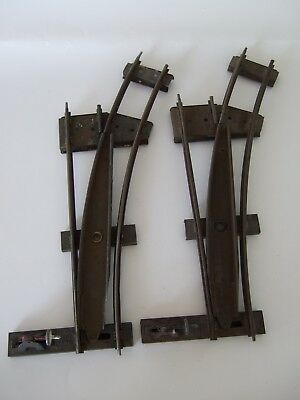 VTG Tinplate Hornby Meccano O Gauge Clockwork Track – Two Right Hand Points