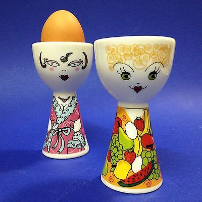 2 x Ritzenhoff - Porcelain FRIENDS Egg Cups - A Bright Way to Start Your Morning