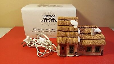"""Dickens Heritage Village Dept 56 """"The Cottage of Bob Cratchit and Tiny Tim"""""""