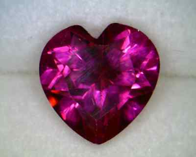 Created Ruby 7x7mm Heart Shaped AA - Quantity of 10