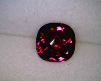Created Ruby 4x4mm Cushion Checkerboard Top AAA - Quantity of 10