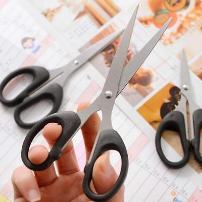 Hot Black Stainless Steel Office Scissors Craft Sewing Kitchen Home Scissors New