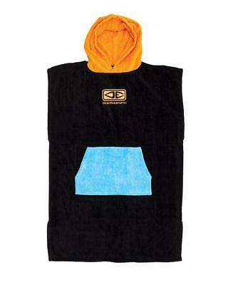 Kids Hooded Surf Poncho - Orange Print From Ocean & Earth