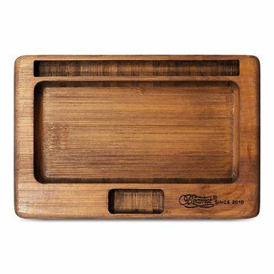 Beamer Natural Bamboo JuJu Rolling Tray with Blunt Cigar Cigarette Holder