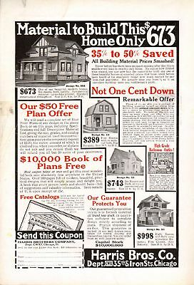 1914 Harris Bros. Build your own Home !!--All the materials you need -t1334