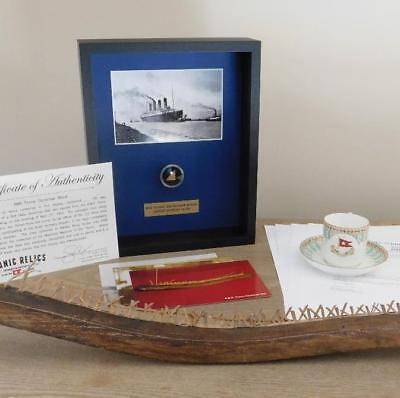 White Star Line RMS Titanic Authentic Shipwreck Deck Chair Artifact