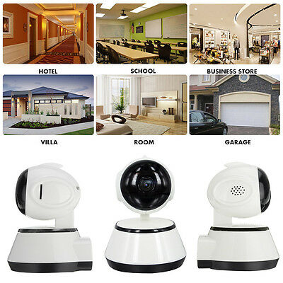 1xHD 720p Wireless Pan Tilt IP WiFi Camera Security CCTV Network IR Night Vision