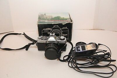 Minolta XG-1 35mm SLR Film Camera Kit with 1 lens and flash