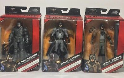 "Batman Lot of 3 DC Comics Multiverse Batman v Superman BATMAN 6"" Figures"