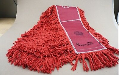 "New 6 Pack Infinity Twist Dust Mops 36"" Red Industrial Ships FREE"