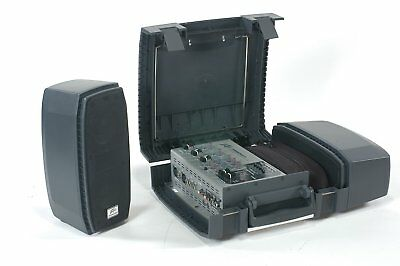 Peavey MESSENGER M100 Complete Portable PA System With 2 Speakers & Microphone