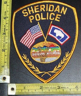 Sheridan Wyoming Police Department Shoulder Patch Law Enforcement