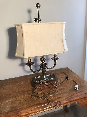 Vintage French Empire Brass  Table Desk Lamp