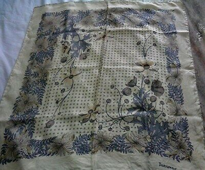 Vintage Jacqmar made in Great Britain silk scarf with hand rolled edges
