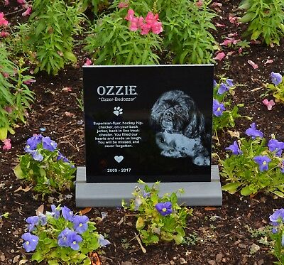 Stand base for tombstone headstone (medium)