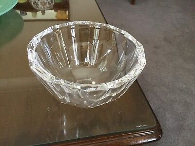 Orrefors Zenith Stunning Crystal Bowl Anne Nilsson Sweden Excellent Condition
