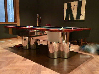 Chrome Pool Table with Chrome Base