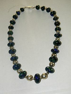 Smithsonian Institution Store  Malachite AND Sterling Silver necklace VERY NICE