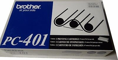 Brother PC-401 Printing Cartridge Fax For Fax-560, 565, 580mc, MFC-660mc NEW