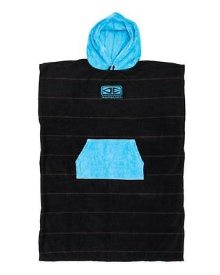 Mens Daybreak Hooded Poncho Towel - Blue Stripe From Ocean & Earth