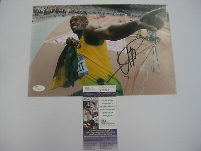 Usain Bolt Signed 8X12 Olympics Photo Jsa James Spence Authenticated #s30845