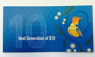 2017 RBA Official Folder $10 Next Generation - DG170629926 - SIX (6) DIGIT RADAR