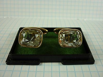 ussr vintage cufflinks silver plated with rock crystal sample 875