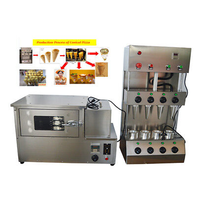 110V Commercial  Pizza Cone Forming Making Machine with Oven Make Cone Pizza