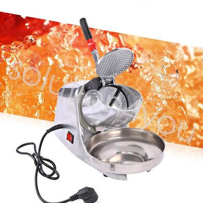 300w 110v Stainless Steel Electric Ice Crusher Snow Cone Maker Shaver