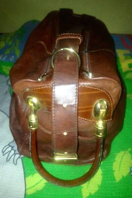 JENNY Large Genuine Leather Shopper Travel Crossbody Hand Bag made in Italy