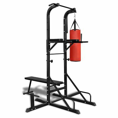 New Power Tower with Sit-up Bench and Boxing Bag 182 x 125 x 218 cm (L x W x H)